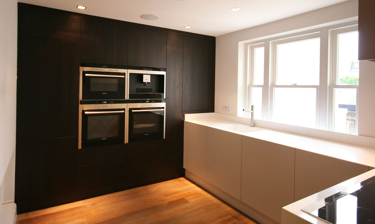 Nick hudson fine furniture contemporary kitchens for Kitchen units to ceiling