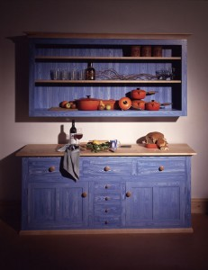 Dresser unit with solid Maple top and dovetailed drawers and paint effect finish.