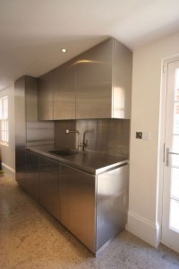 Stainless steel Utility Room.