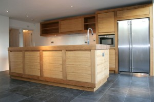 Made from solid and veneered European Oak with solid Oak worksurfaces