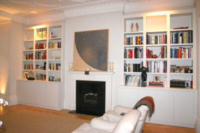 Hand-painted Alcove shelving.