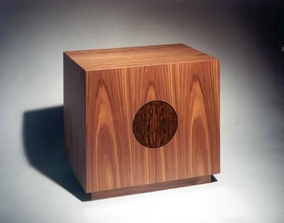 Walnut cabinet with Wenge and Ebony inlay.