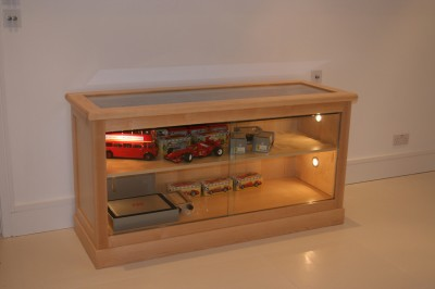 Display Cabinets made from Maple.