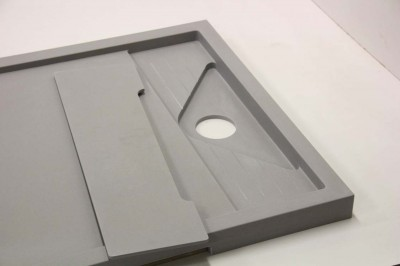 Custom Shower Tray made to measure and to compliment flooring.