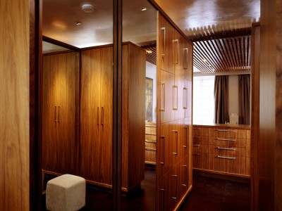 Bedroom suite made from veneered American Black Walnut throughout.