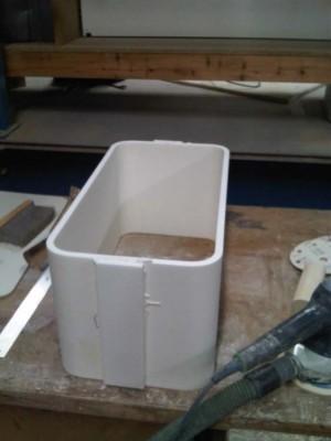 Workshop manufacture of a custom Utility Sink.