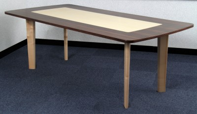 Table made from Indian Rosewood with English Sycamore tapered legs and under-frame.