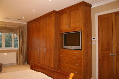 Wardrobe made from stained Oak.