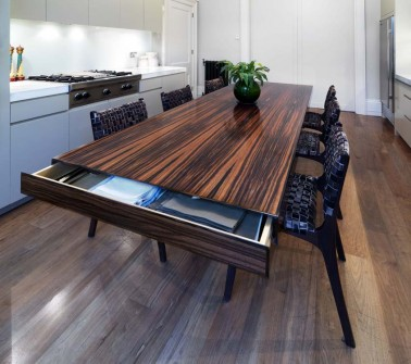 Kitchen Table Made From Macassar Ebony ...