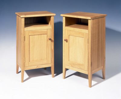 Bedside cabinets made from Oak.