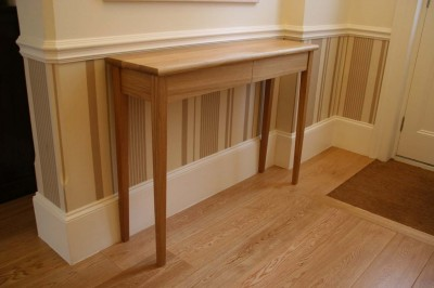 Entrance Hall Table made from solid Oak.