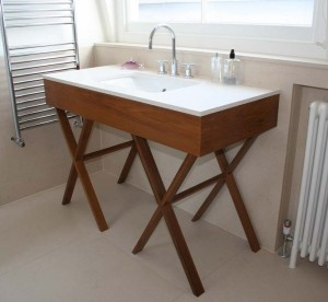 Vanity Unit made from solid Teak.