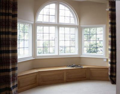 Bay-window seating made from Oak.