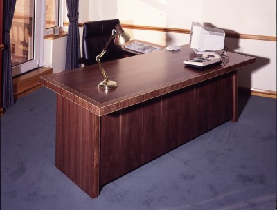 Walnut and Boxwood inlayed Desk for the Chief Executive of the Woolwich Building Society.